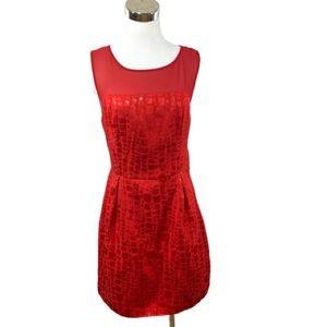 Mac + Jac Red Sheath Sleeveless Dress Size L